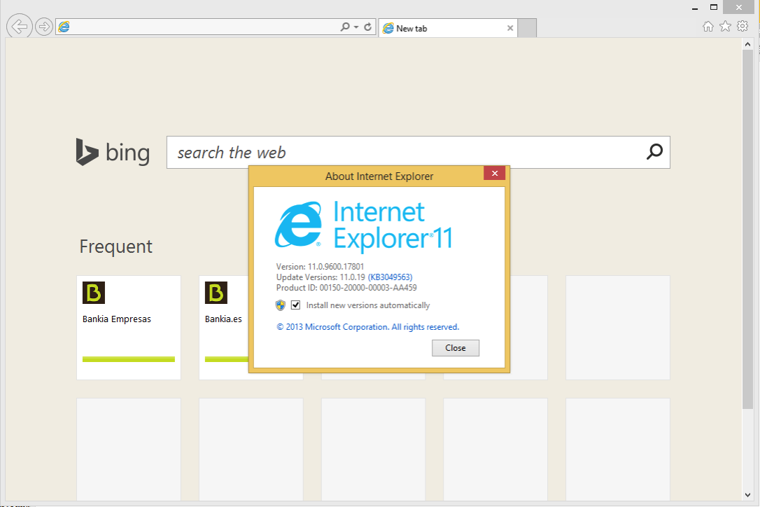 IE Win About