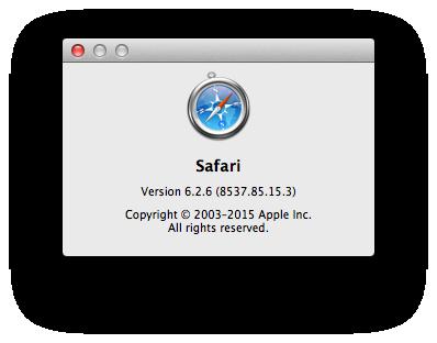 Safari Mac About